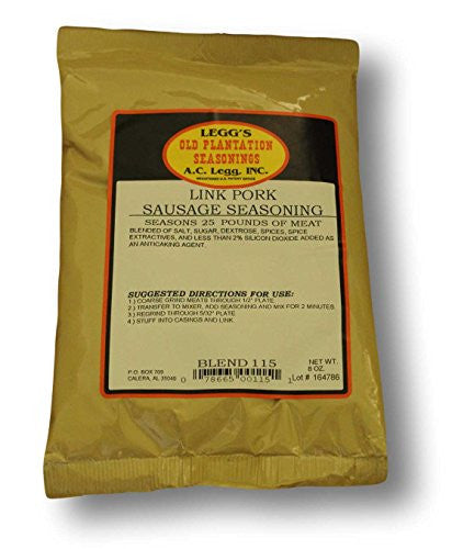 AC Legg Link Pork Sausage Seasoning. Blend #115