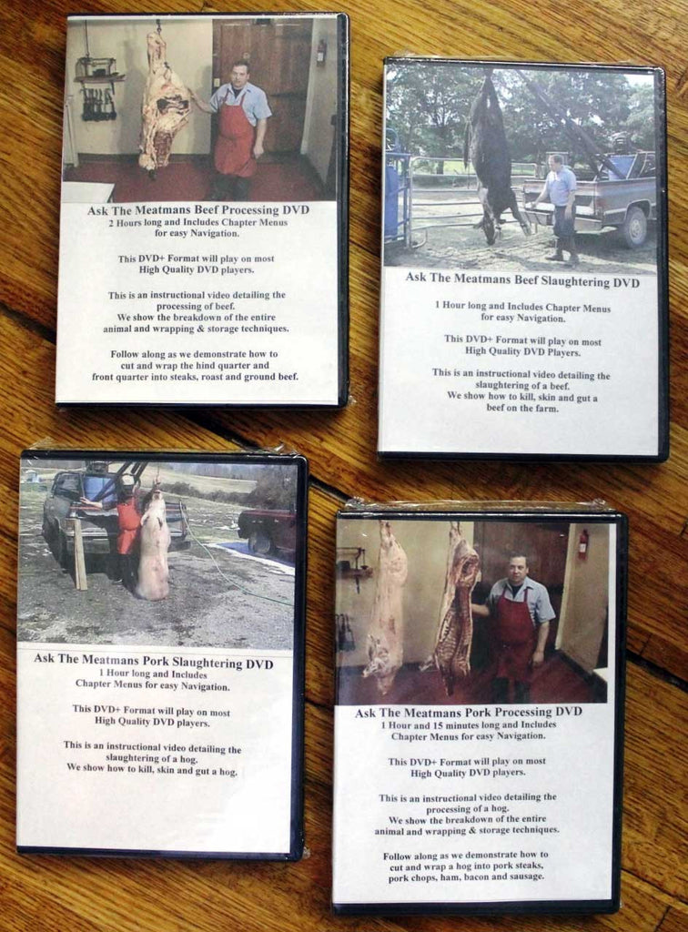 DVD Combo Beef Processing, Beef Slaughtering, Pork Processing, and Pork Slaughtering