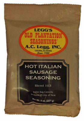 A.C. Legg Hot Italian Sausage Seasoning. Blend #103
