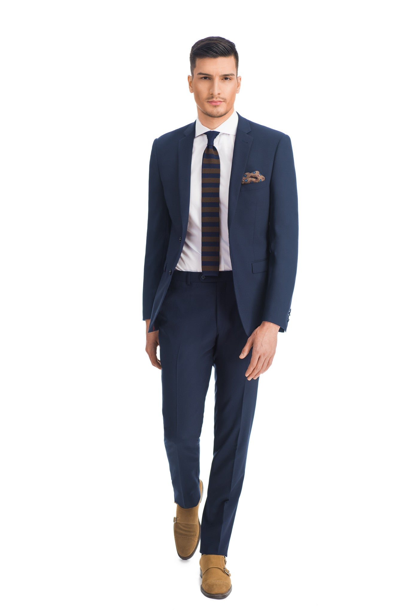Finezza blue plain suit