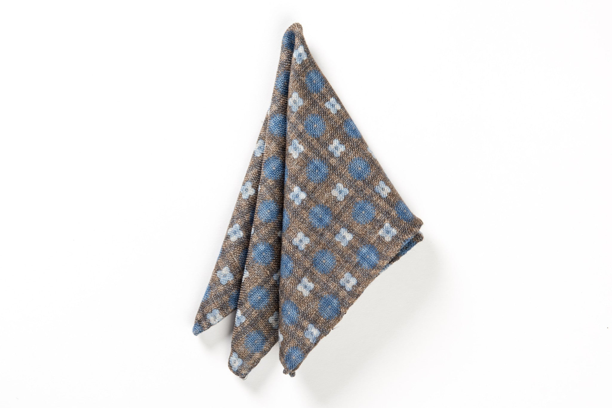 Beige wool pocket square