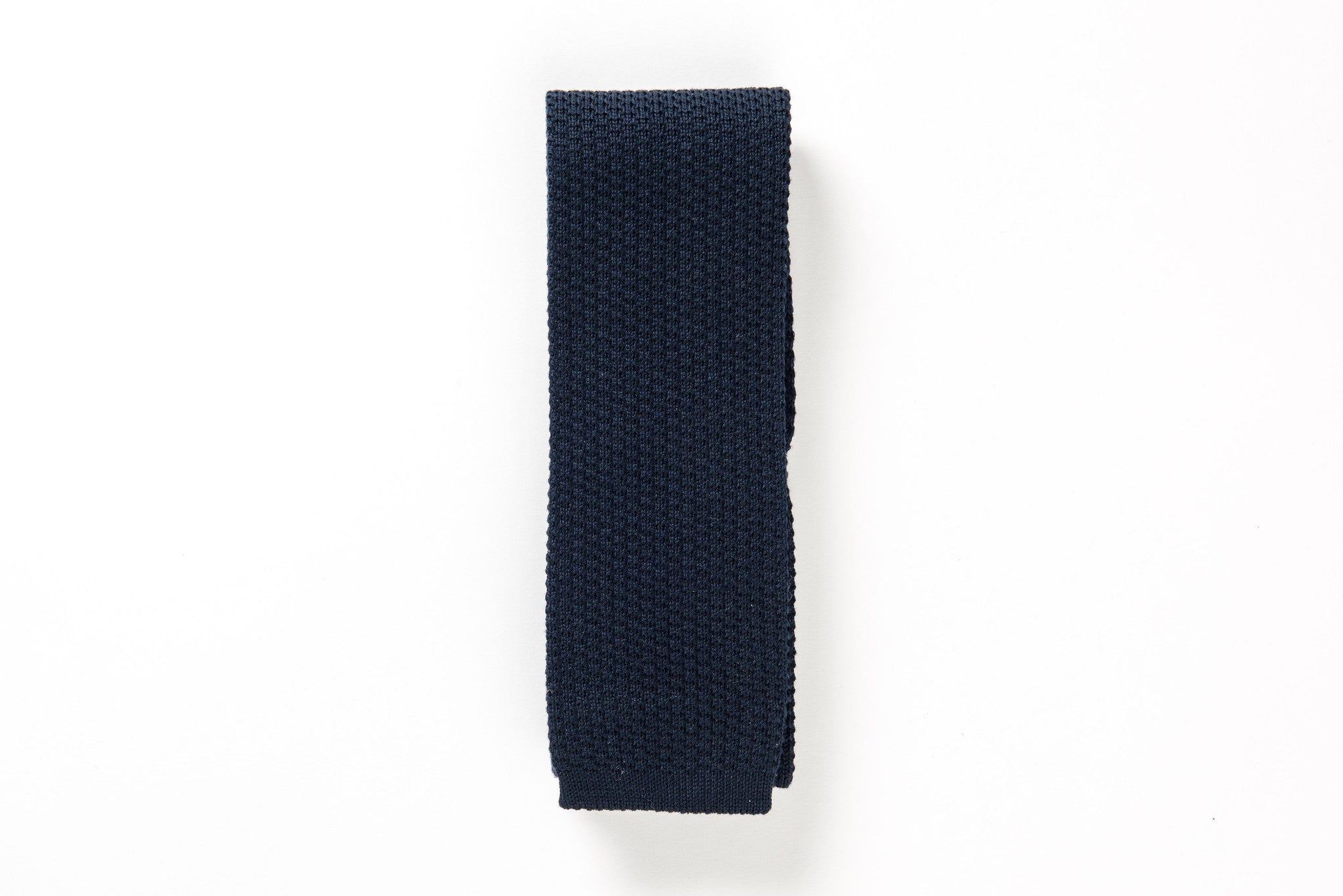 Navy coton Knitted tie