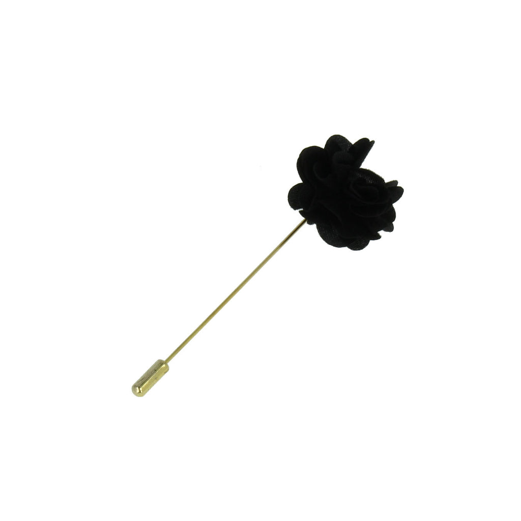 Black velvet finish boutonniere