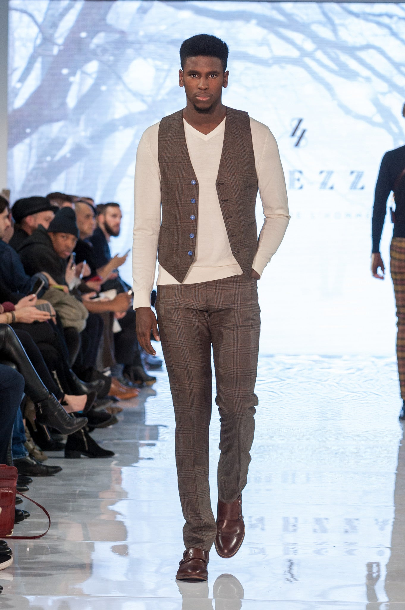 Brown wool pant