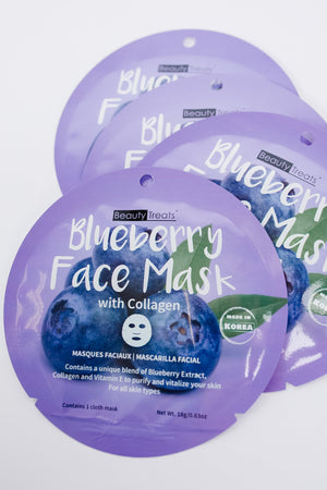Home For The Holidays Face Mask in Blueberry
