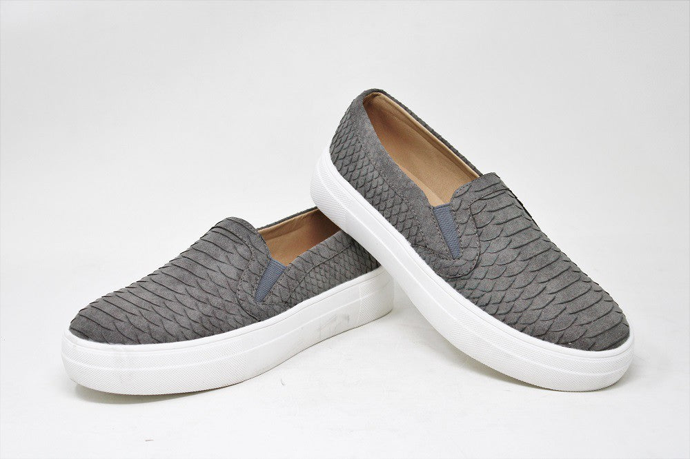Diem Slip On Slides - Grey