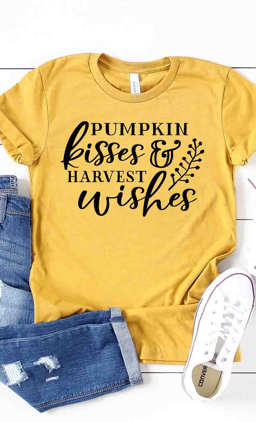 Pumpkin Kisses & Harvest Wishes Graphic Tee