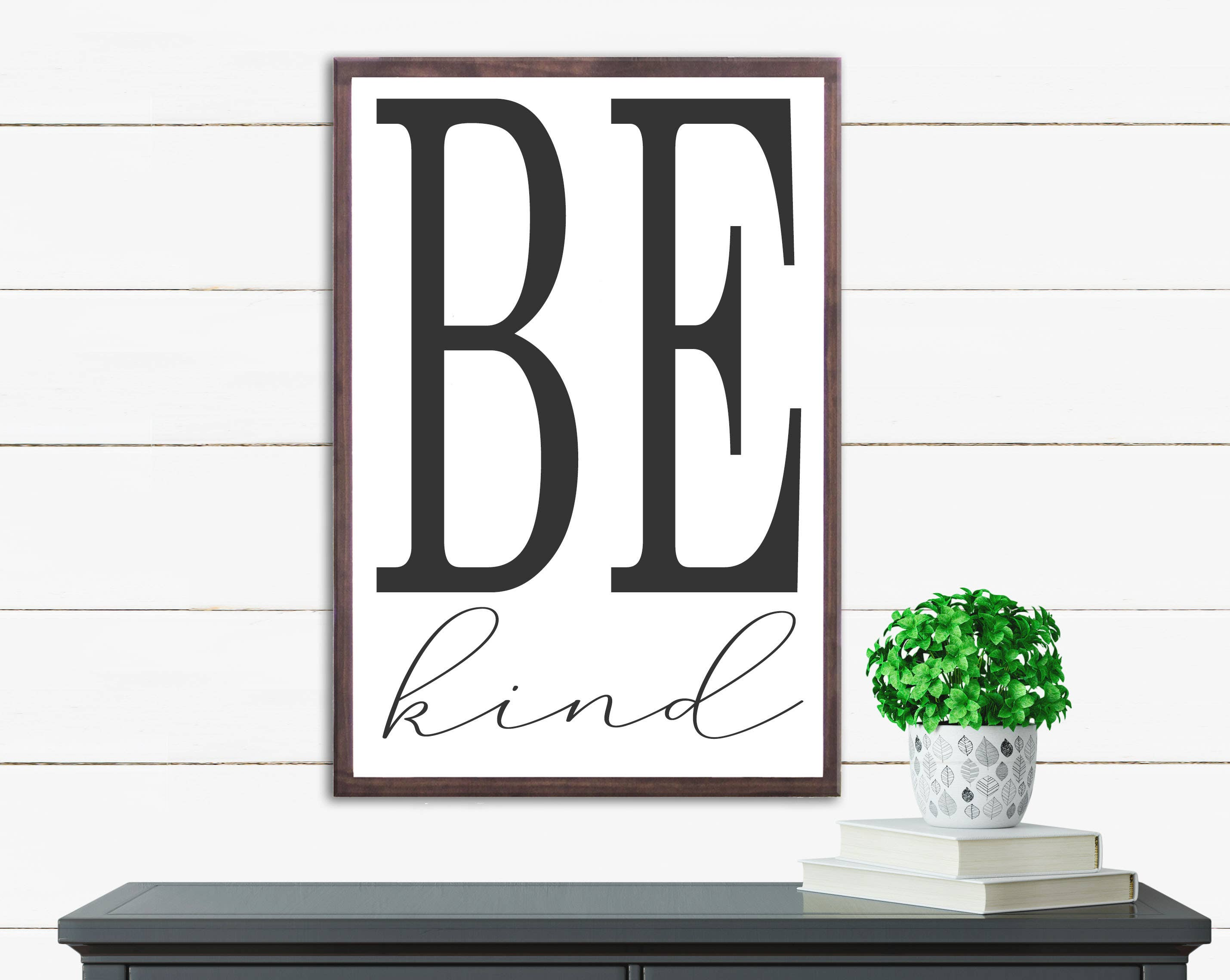 "10""x15"" Be Kind Wood Sign"