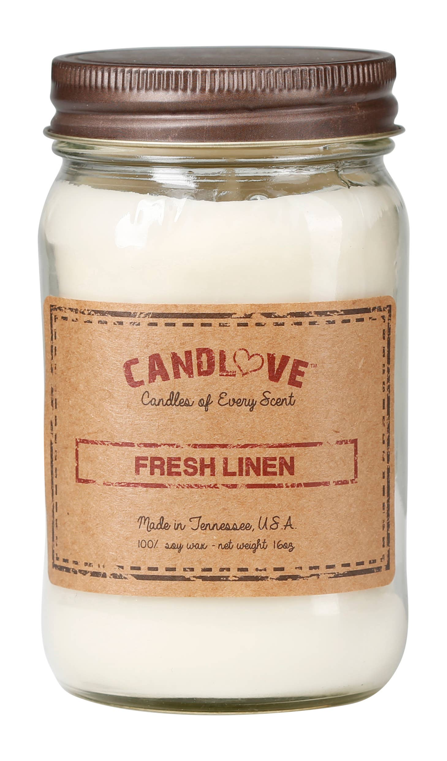 Soy Wax Scented Candle - Fresh Linen