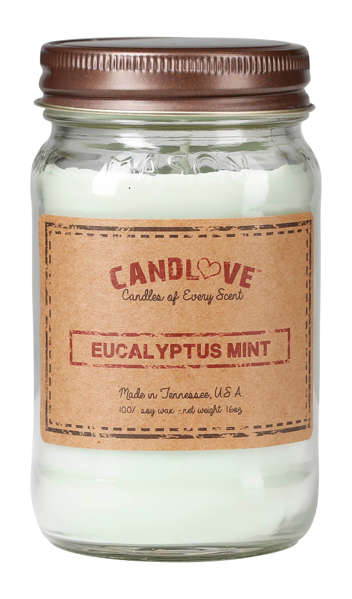 Soy Wax Scented Candle - Eucalyptus Mint