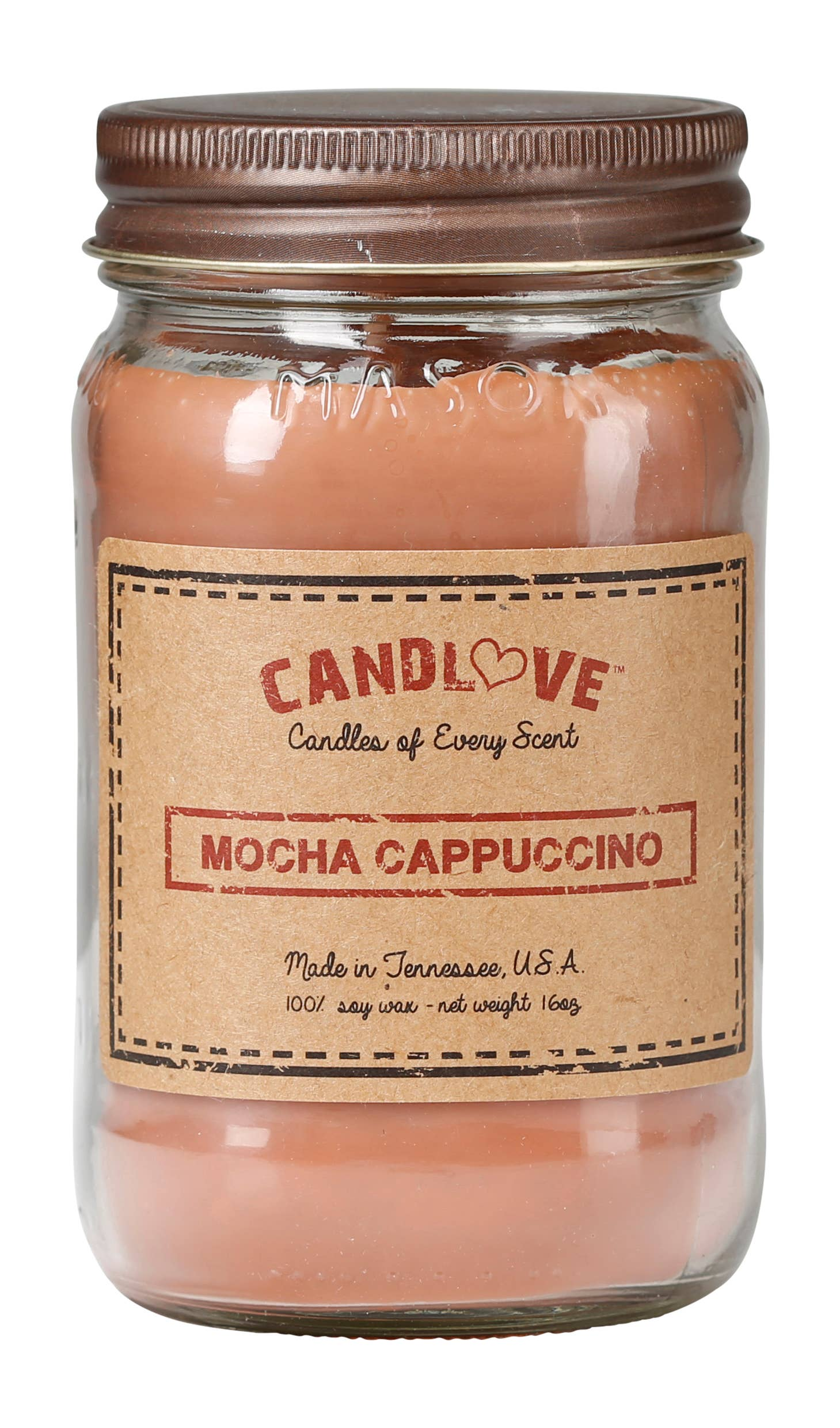 Soy Wax Scented Candle - Mocha Cappucino
