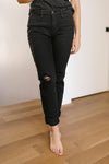 Devastatingly Dark Black Jeans