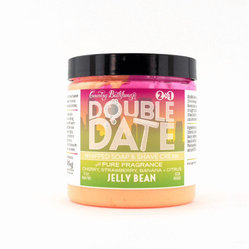 Double Date Whipped Soap and Shave - Jelly Bean