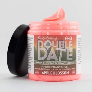 Double Date Whipped Soap and Shave - Apple Blossom