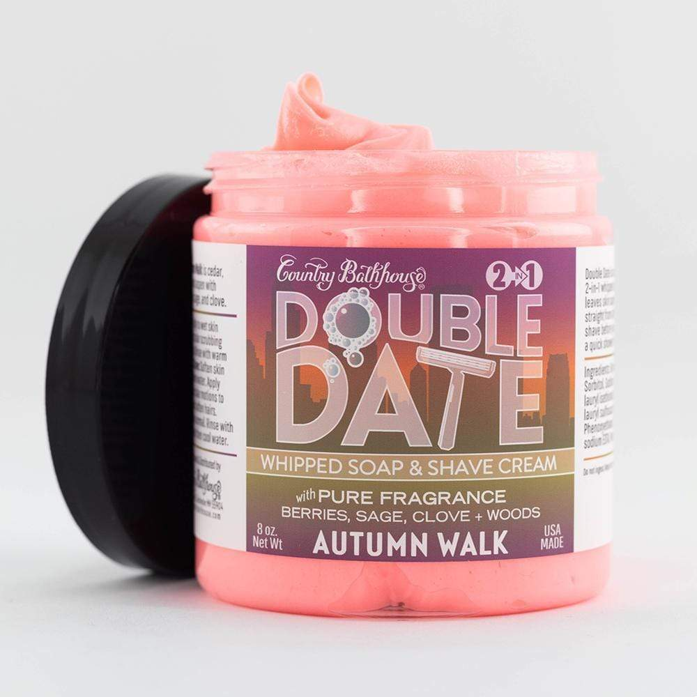 Double Date Whipped Soap and Shave - Autumn Walk