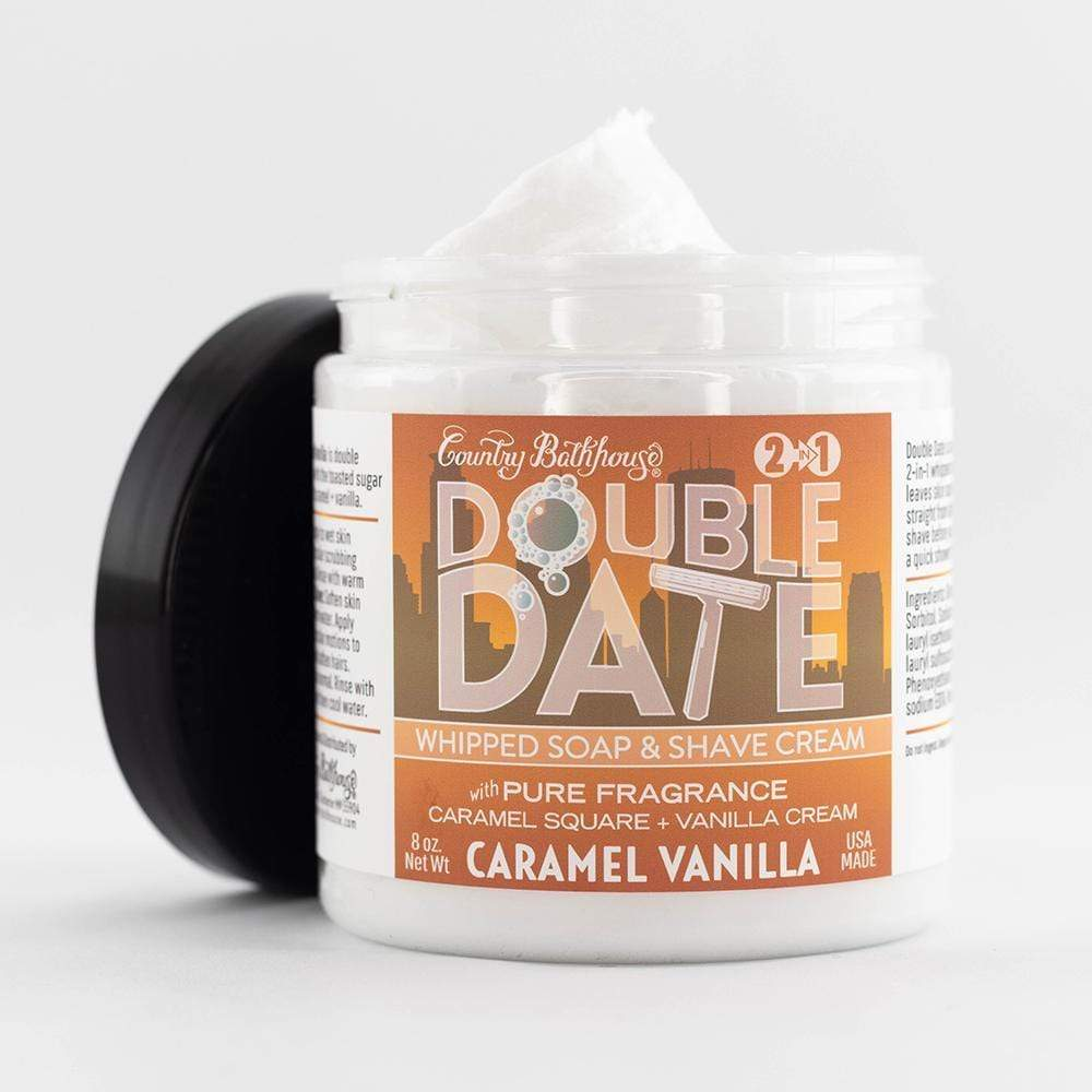 Double Date Whipped Soap and Shave - Caramel Vanilla