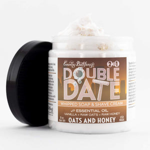 Double Date Whipped Soap and Shave - Oats and Honey