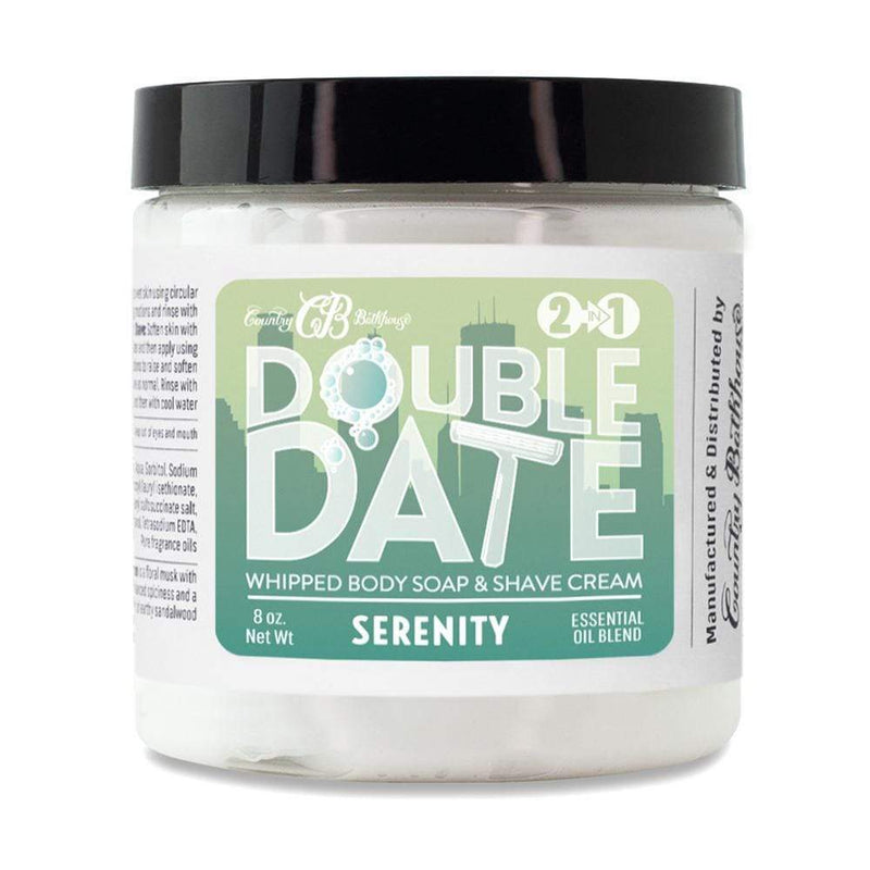 Double Date Whipped Soap and Shave - Serenity