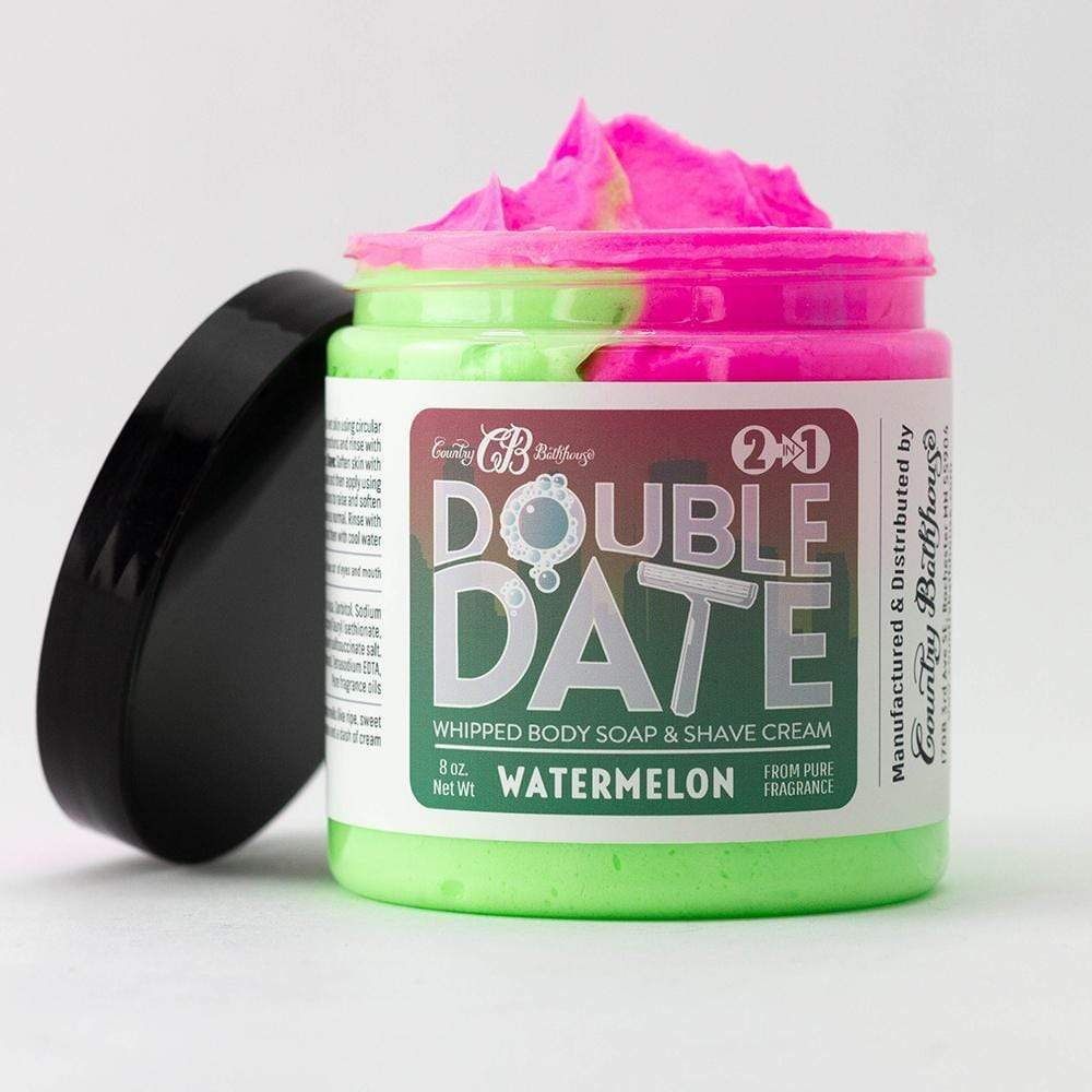 Double Date Whipped Soap and Shave - Watermelon