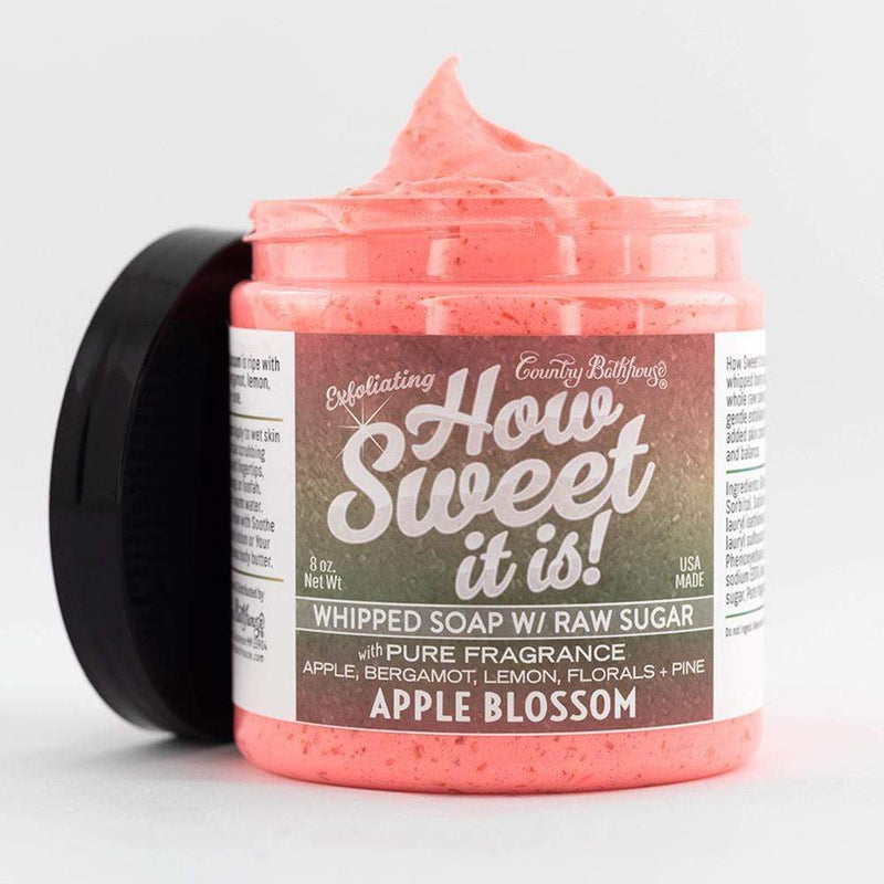 How Sweet It Is Whipped Soap with Raw Sugar - Apple Blossom