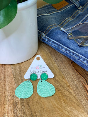Sparkle Braided Dangles - Summer Green