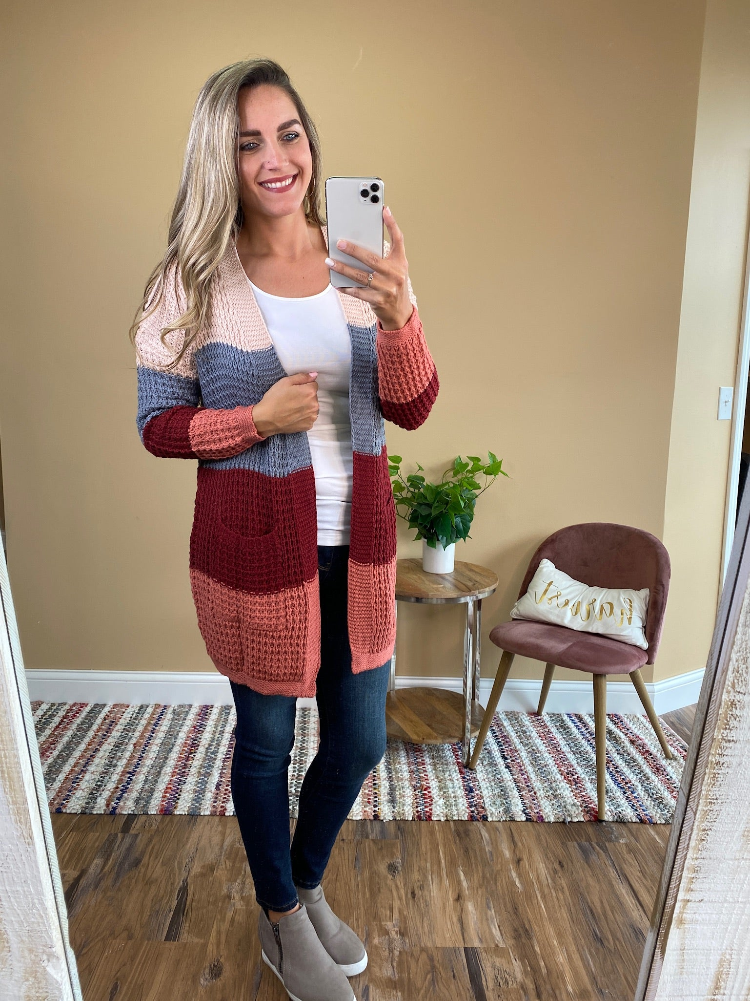 Marley Color Block Knitted Cardigan