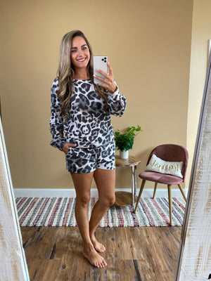 Brielle Leopard Brushed Loungewear Set