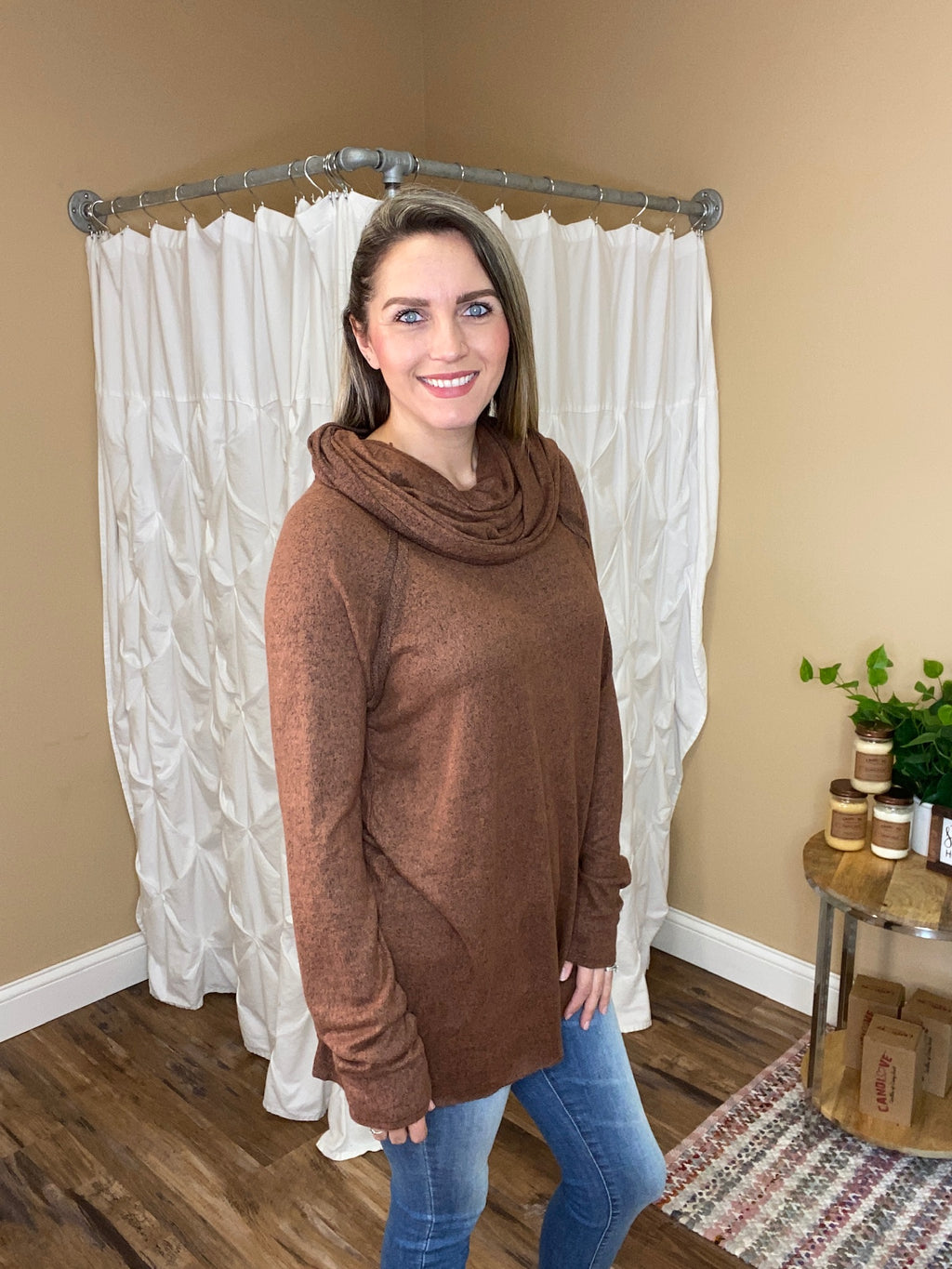Copper Cowl Top