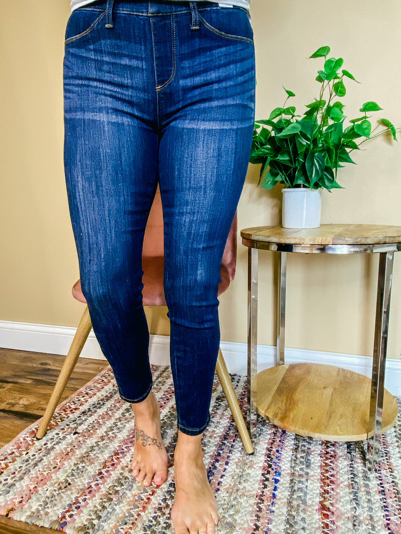 Mandy Skinny Pull On Jeggings - Judy Blue