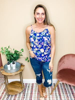 Lucy Sweet Summertime Floral Tank Top