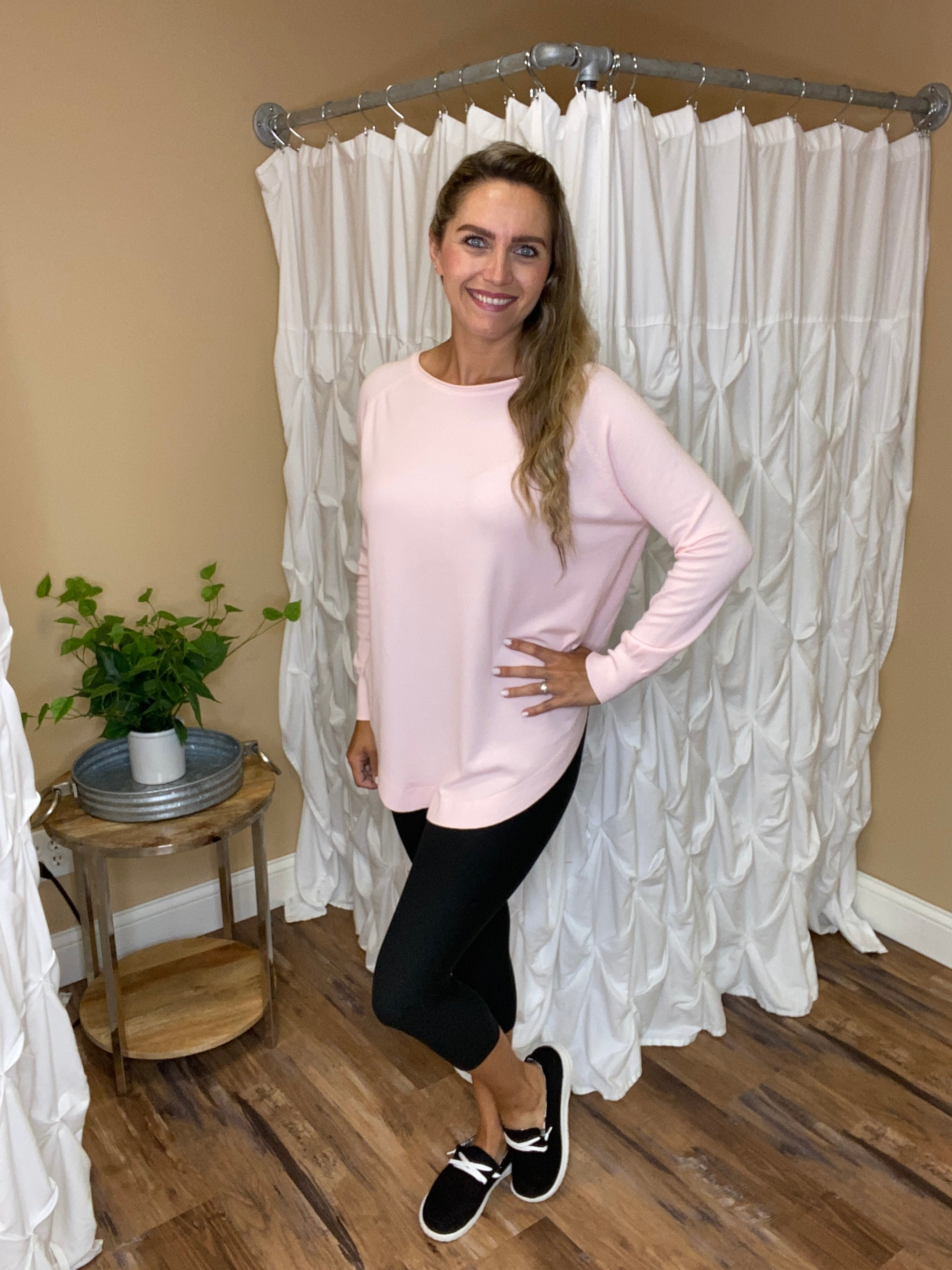 Clara Long Sleeve Top - Pink