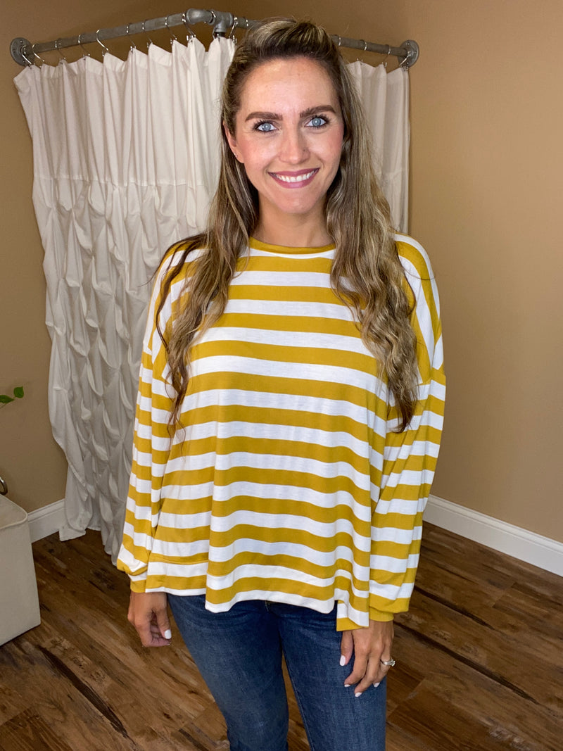 Adalee Striped Long Sleeve Top