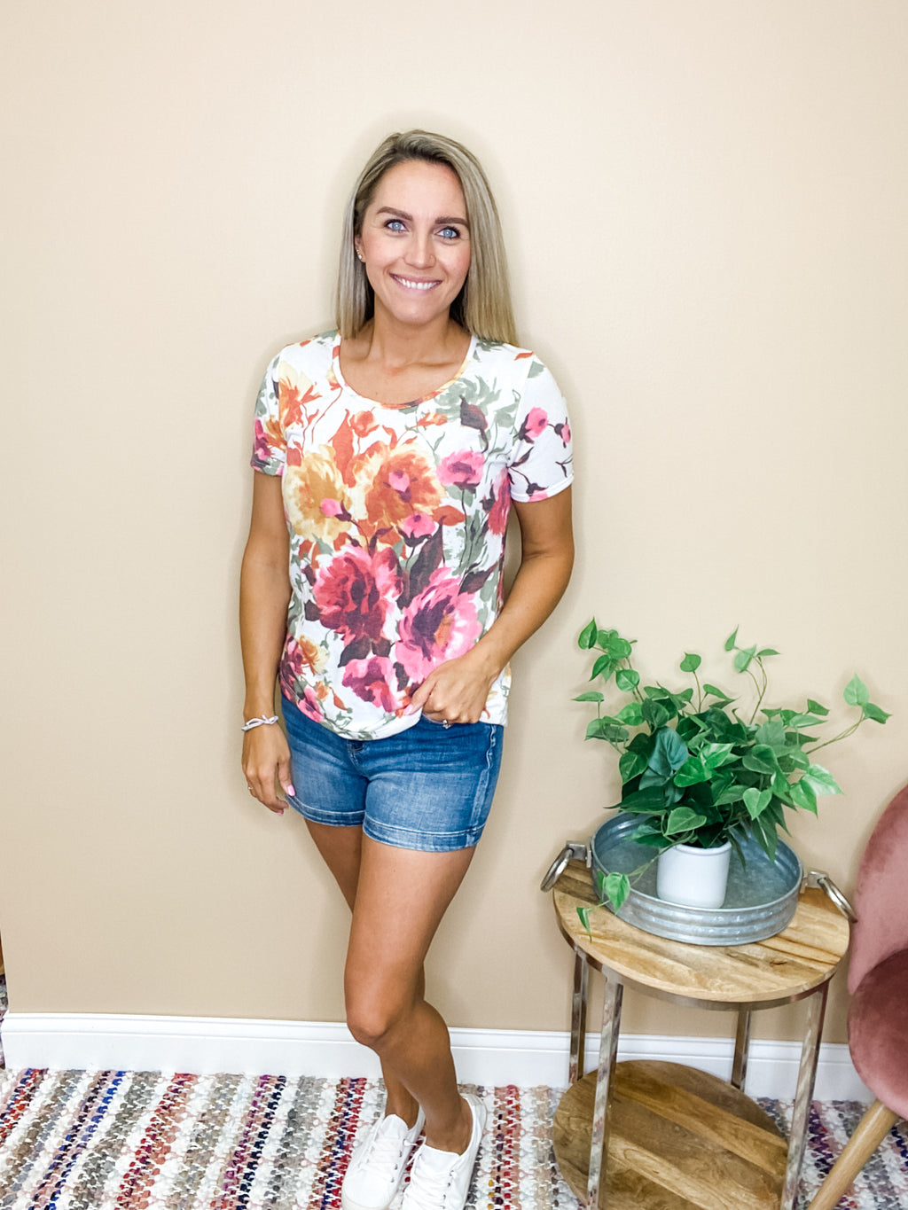 Maren Short Sleeve Floral Top