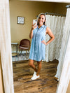 Sadie Sleeveless Denim Dress - Light
