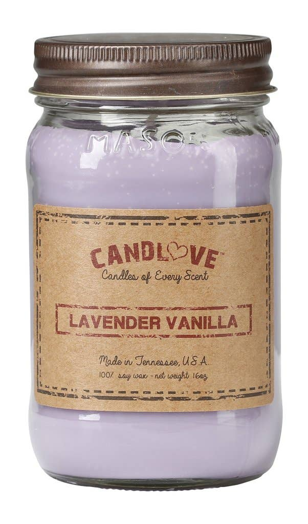 Soy Wax Scented Candle - Lavender Vanilla