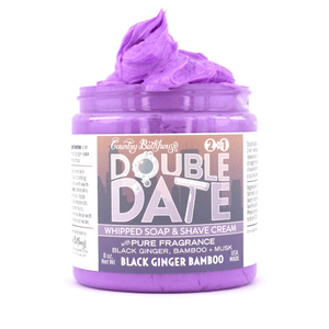 Double Date Whipped Soap and Shave - Black Ginger Bamboo