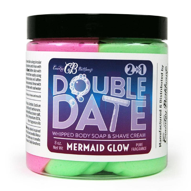 Double Date Whipped Soap and Shave Cream - Mermaid Glow