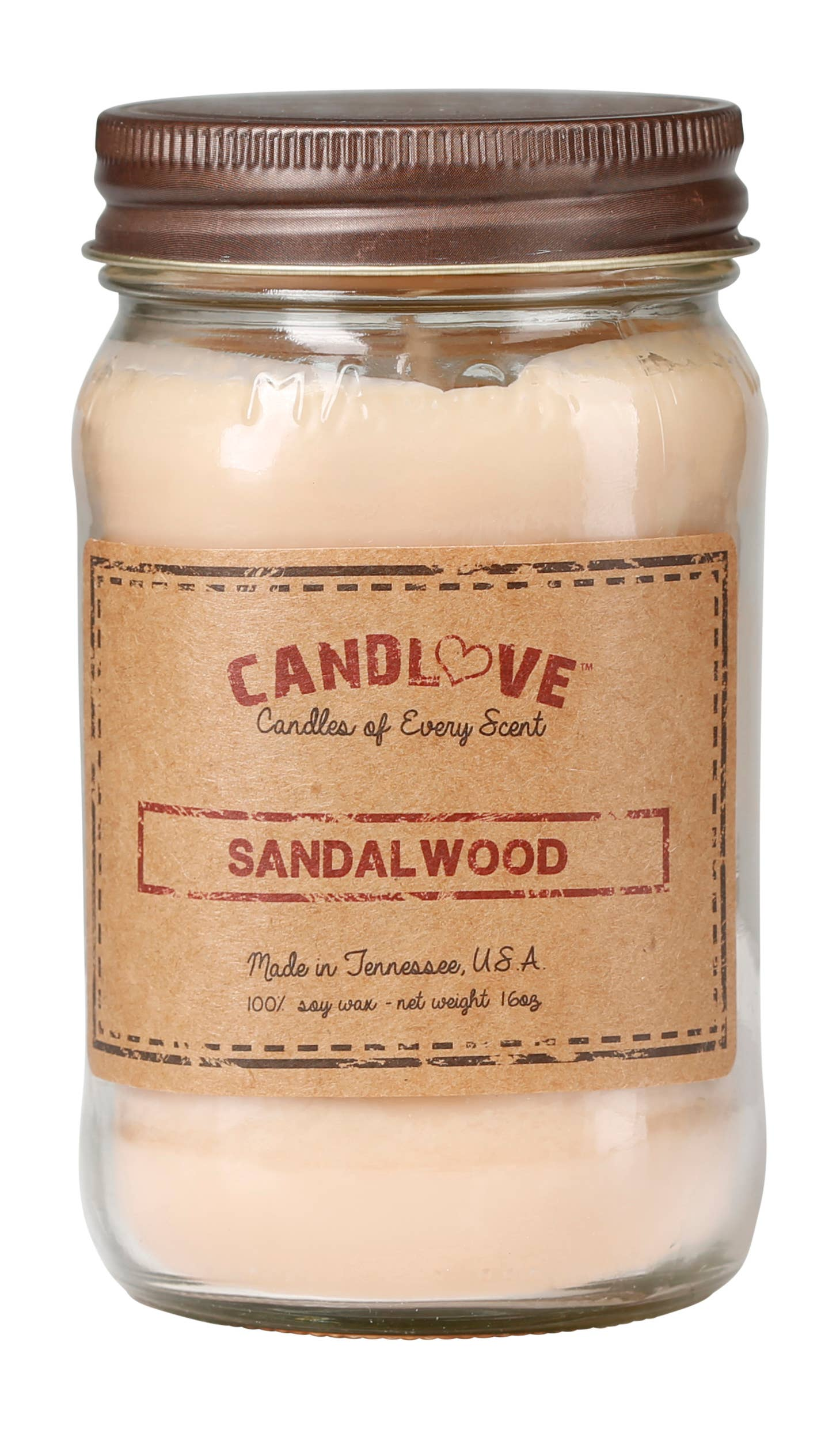 Soy Wax Scented Candle - Sandalwood