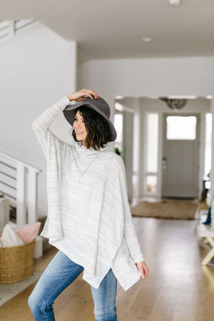 Over The Moon Cowl Neck Top