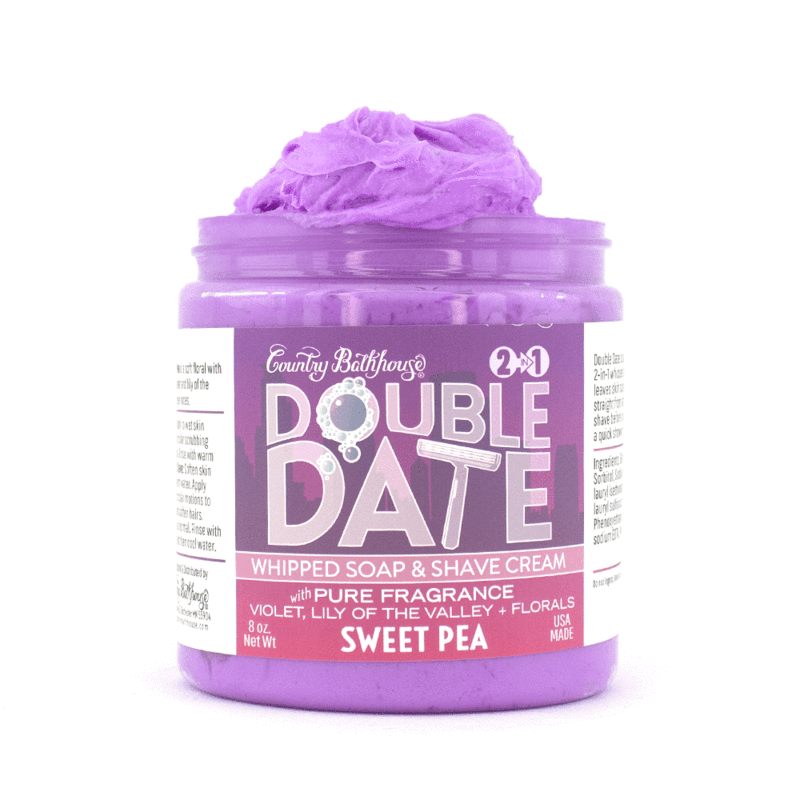 Double Date Whipped Soap and Shave - Sweet Pea