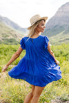 True Blue Swiss Dot Dress