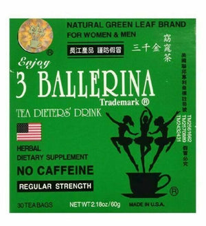 3 Ballerina Regular Strength Dieters Tea Bags 三千金窈窕茶 18/30Tea Bags