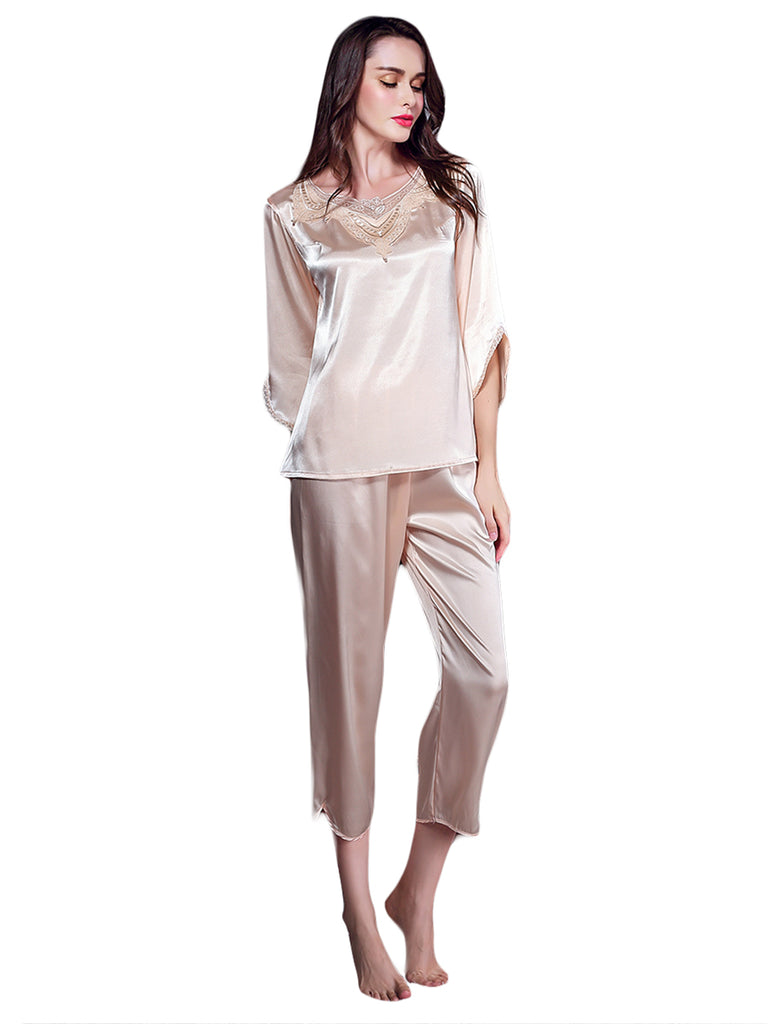 Women's Pajamas Suit Elegant Casual Solid Cozy Sleepwear Set