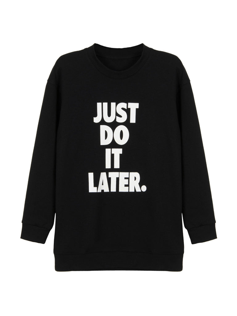 Casual Style Women's Sweatshirt Stylish Long Sleeve O Neck Print Design Pullover