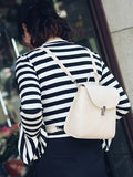 Women's Backpack Fresh Style Solid Multi Function Cover Hasp Bag