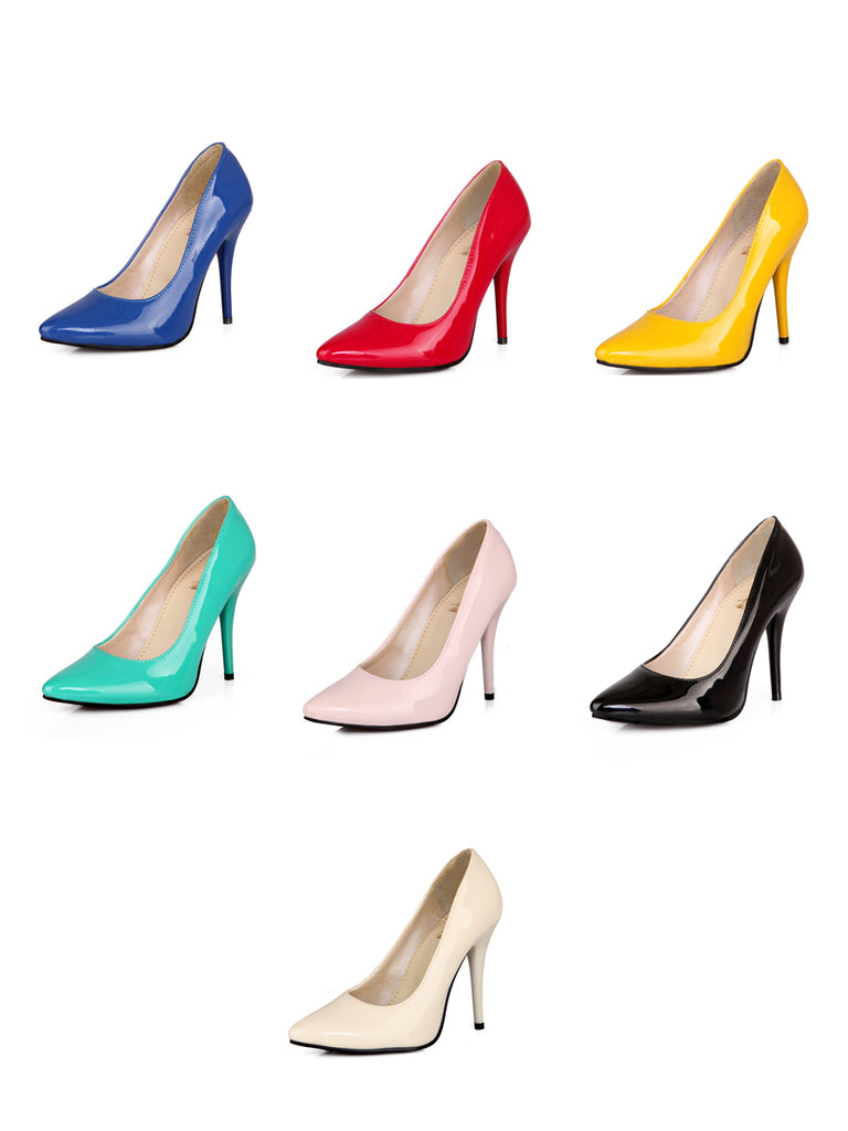 Women's Pumps OL Style Solid Multi Color Elegant Thin Heel Shoes