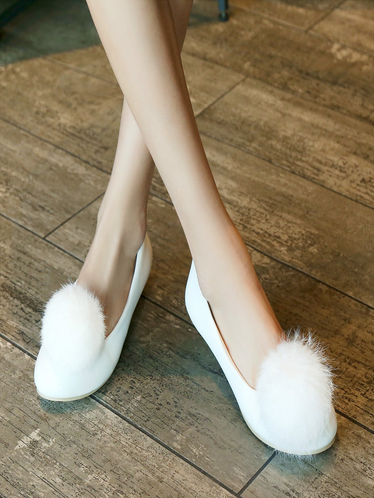 Women's Pumps Sweet Flush Ball Ornament Shoes