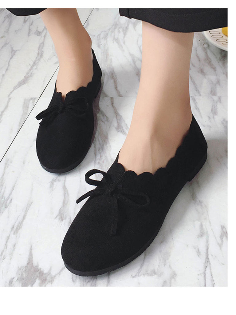 Women's Pumps Round Toe Flat Low Heel Simple Comfy Shoes