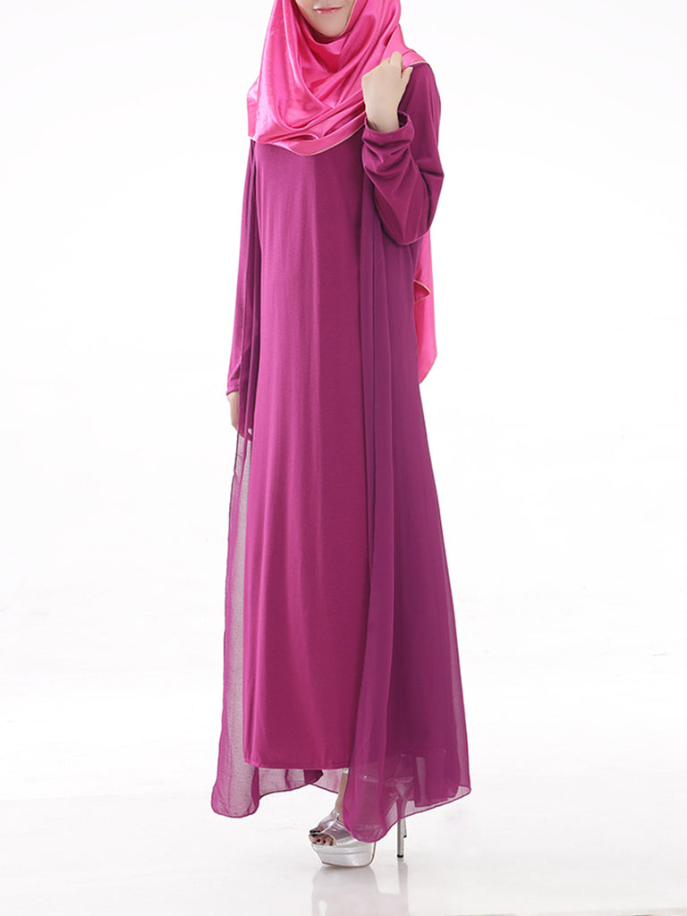 Women's Arabian Clothing Solid Color Kaftan Dress(excluding kerchief)