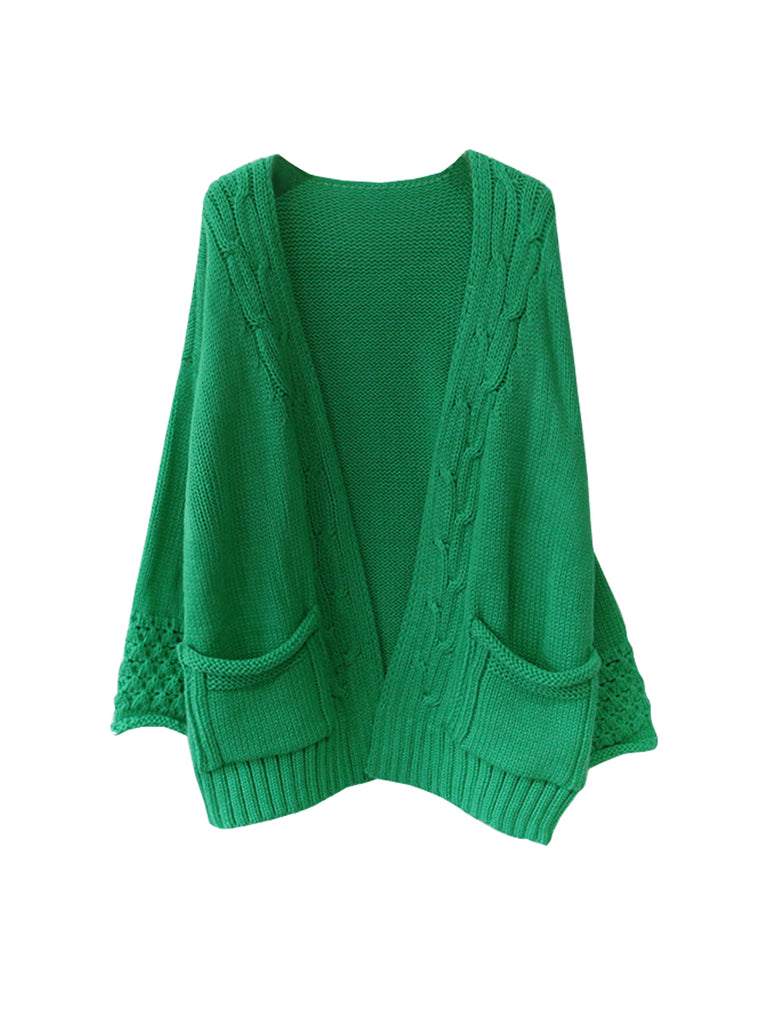 Women's Cardigan Long Sleeve Open Front Solid Cardigan